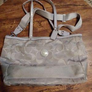 Coach multifunctional diaper bag